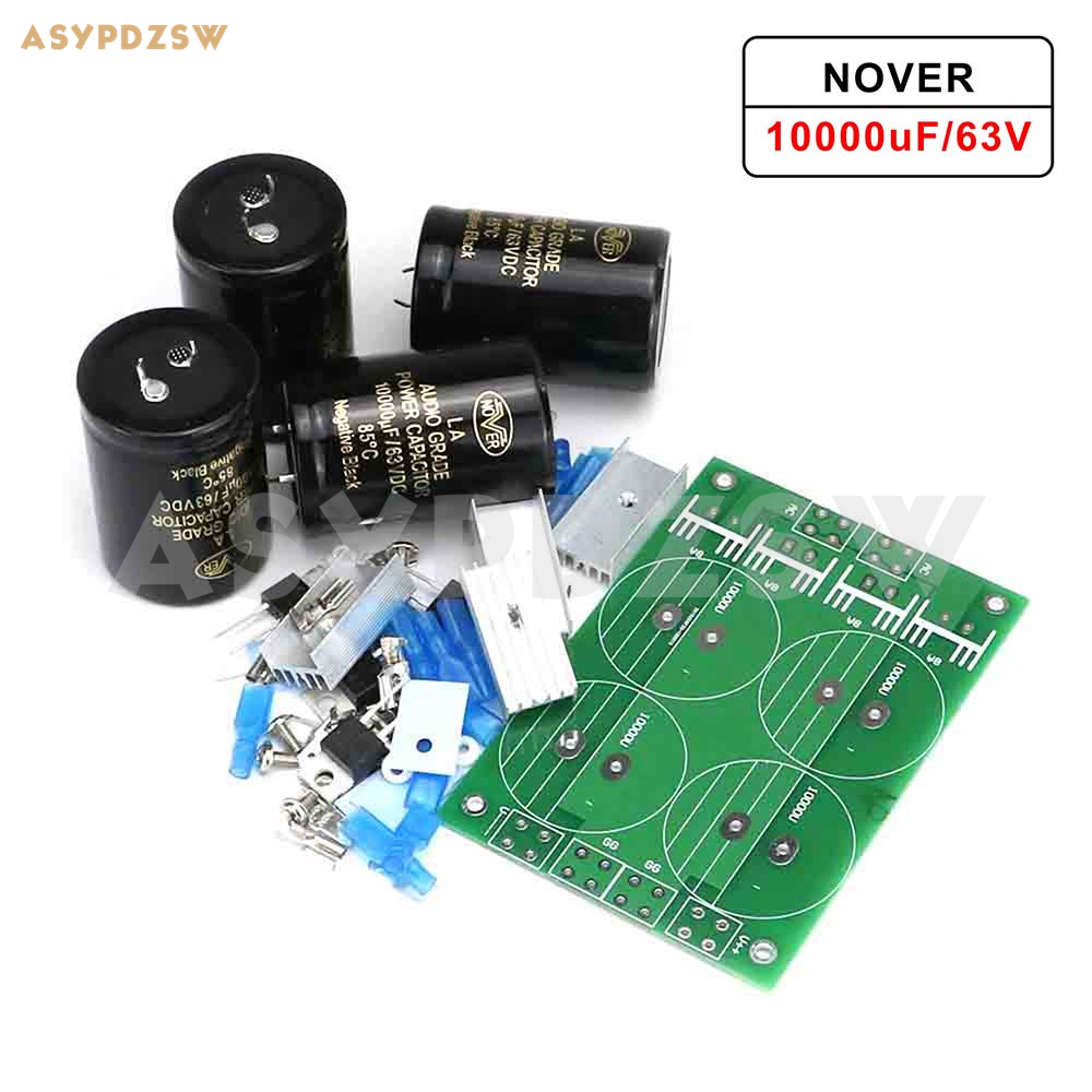 HPO Amplifier power supply DIY Kit 30A NOVER 10000uF 63V X4 Diode Rectifier Filter PSU