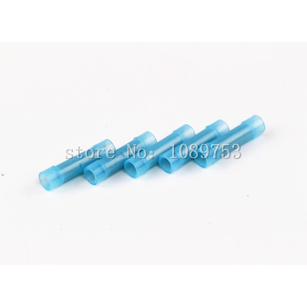 100PCS 16 14 Insulated Butt Connectors Nylon Crimp Electrical Wire ...