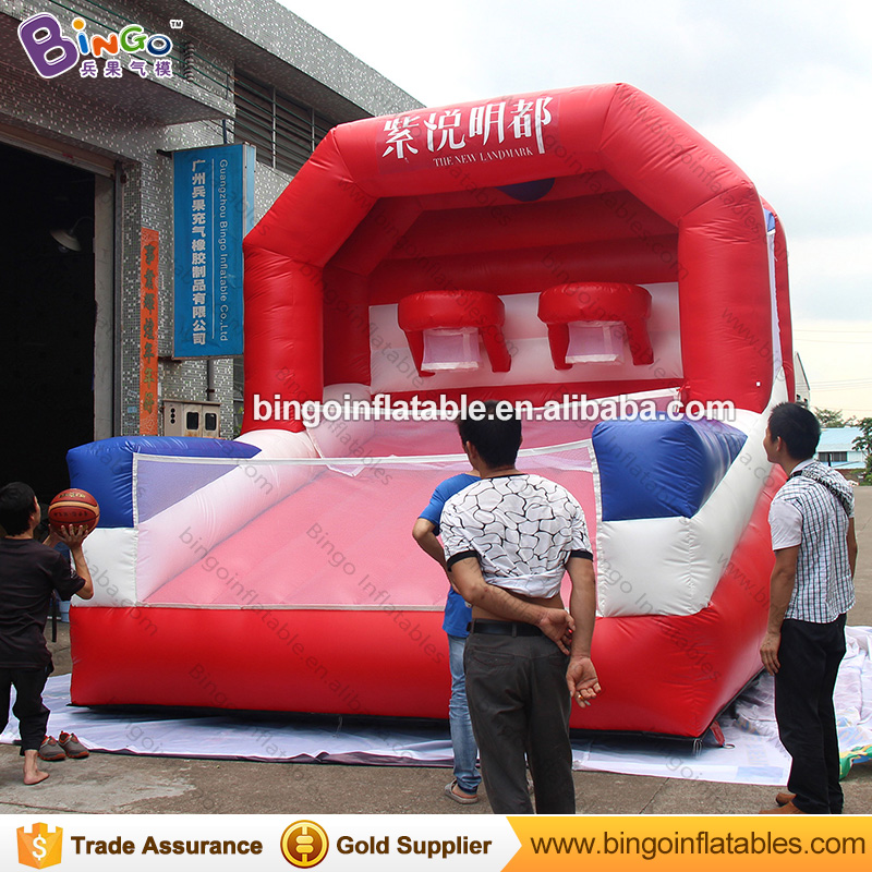 2018 Hot sale 4X4M inflatable basketball hoop toy basketball shoot game for children carnival event with customized logo free shipping inflatable slide water trampoline with basketball hoop and water gun