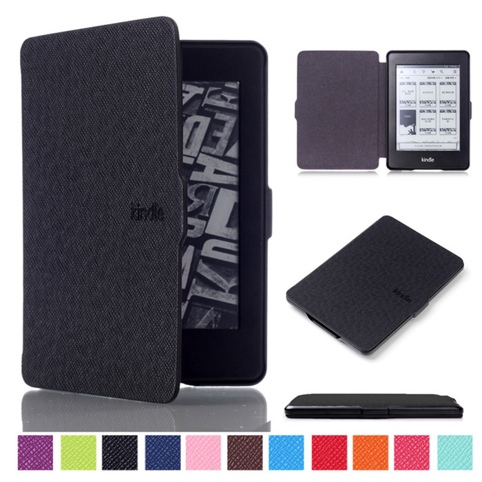 PU Leather Smart Cover Case for Amazon Kindle Paperwhite 1/2/3 Version + 2 Pcs Screen Protector Gift ultra thin smart flip pu leather cover for lenovo tab 2 a10 30 70f x30f x30m 10 1 tablet case screen protector stylus pen