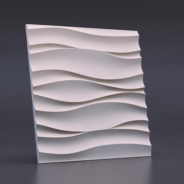 molde plstico para yeso 3d paneles decorativos de pared onda atlntico nuevo diseo 2017 - Paneles Decorativos 3d