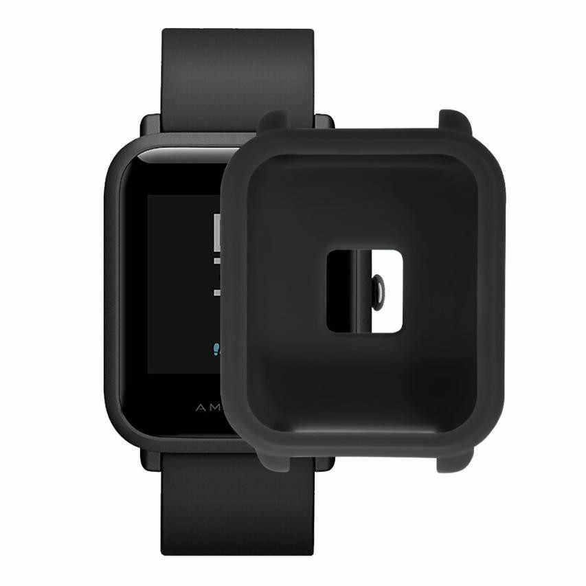 Mềm mại LIỆU Silicone Full Ốp Lưng Huami/Amazfit/Bip/Thanh Niên Dây đeo thiết bị vòng tay thể thao đồng Hồ Relogio