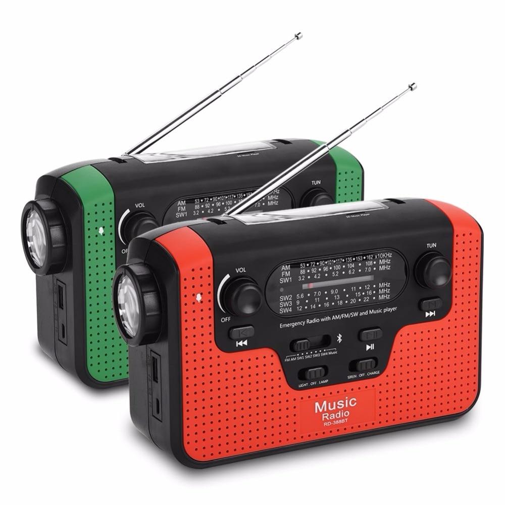 Rd-388 Fm/am/sw Solar Handkurbel Radio Tf Musik Bluetooth-freisprecheinrichtung Call Solar Fm Radio Unterstützung Led Taschenlampe Um Der Bequemlichkeit Des Volkes Zu Entsprechen Radio