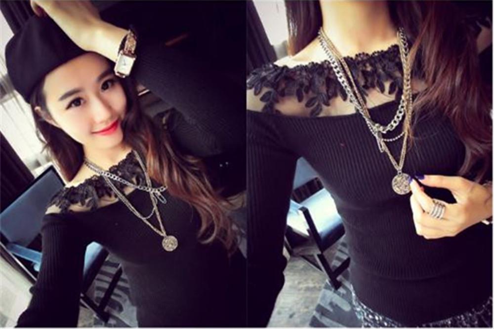 HTB1 G6KJXXXXXagXFXXq6xXFXXXd - Blusa black white striped blouse shirts long sleeve