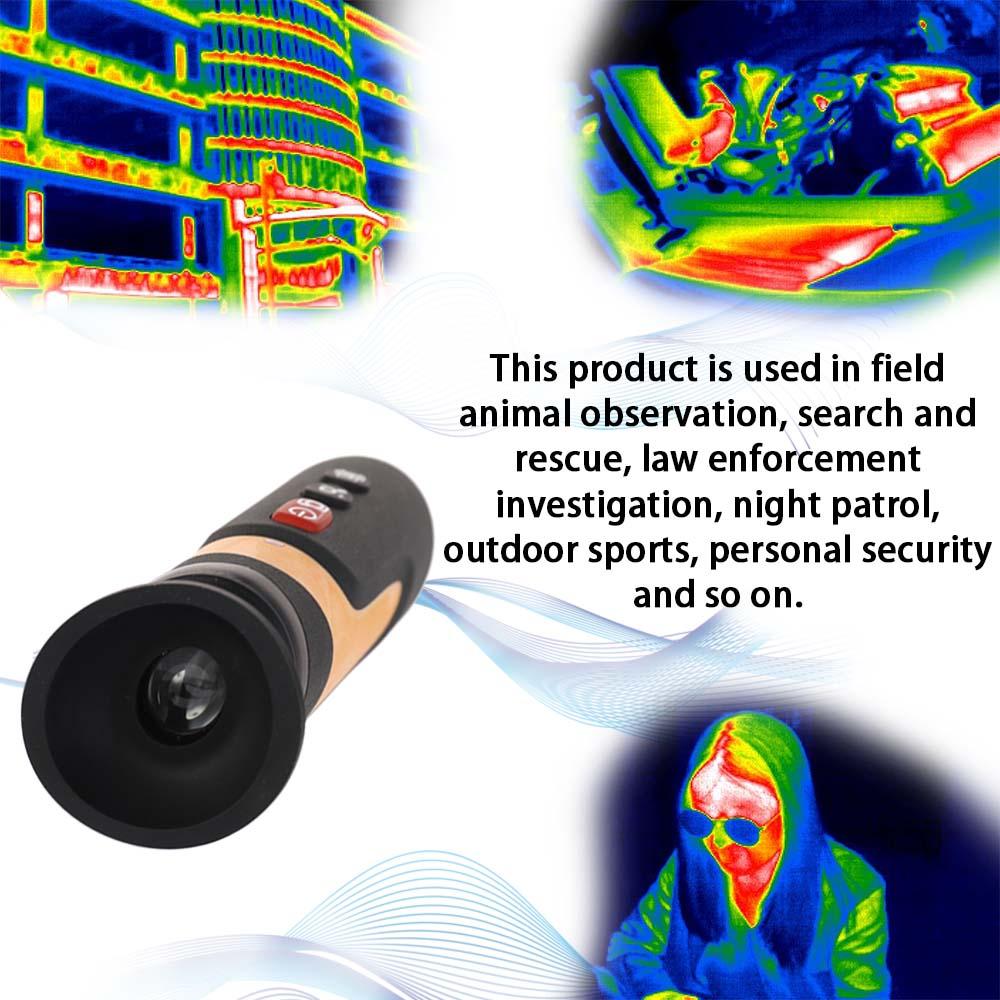 Vision nocturne infrarouge portative multifonctionnelle d'imagerie thermique de cylindre de HD de HT-320D avec le câble d'usb et l'adaptateur de commutation