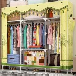 25 мм смелый стальной трубчатый шкаф стоящий шкаф для хранения одежды органайзер полка простой мебель для спальни