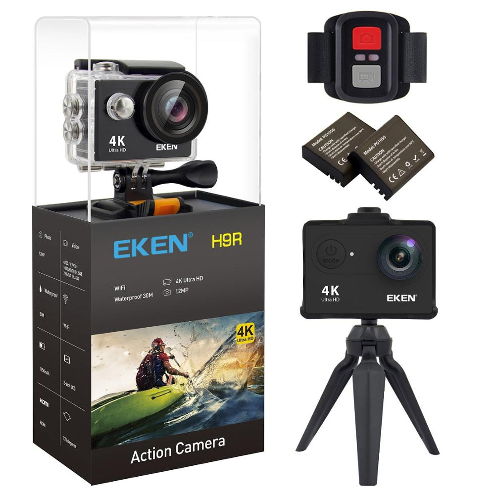 EKEN H9 H9R Original Action camera Ultra HD 4K 25fps 1080P 60fps go WiFi 2 170D mini underwater waterproof pro Helmet Sport cam akaso ek7000 action camera ultra hd 4k wifi 1080p 60fps 2 0 lcd 170d lens helmet cam waterproof pro sports camera