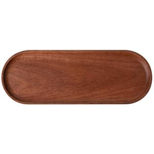 Image 5 - Creative Wood Pallet Solid Wood Oval Storage Plate Coffee Dessert Tea Breakfast Fruit Jewelry Plate Snack Tray Home Kitchen