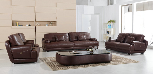 Lizz Top Genuine Leather Living Room Office Sofa Set Includ 1 Seat 2