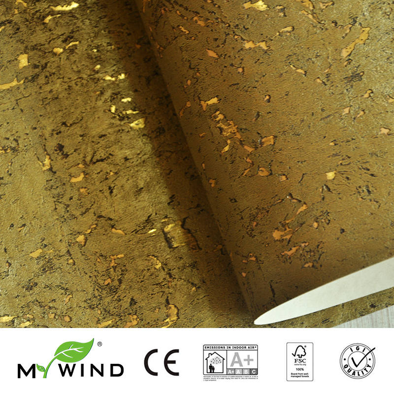 2019 MY WIND Gold Luxury Decoration 100% Natural Material Safety Innocuity 3D Wallpaper In Roll Decor European Aristocracy