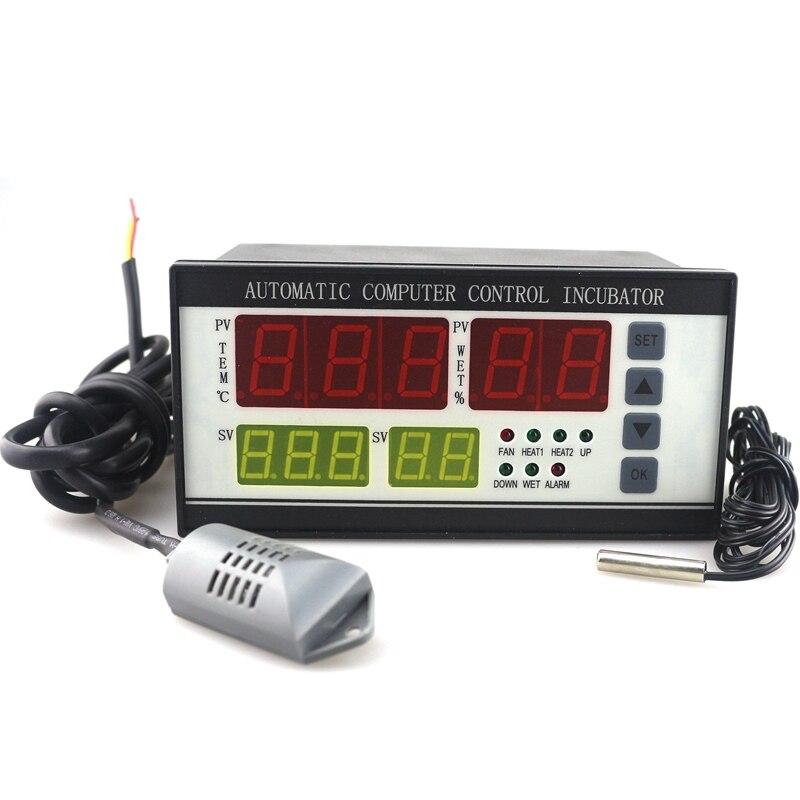 Régulateur de Thermostat de XM-18 à ca 220 V pour le contrôleur d'humidité de température d'incubateur pour automatique industriel avec deux capteurs