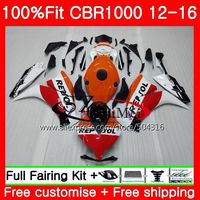 Injection For HONDA CBR1000RR 12 13 14 15 16 100NO.1 CBR 1000RR 1000 RR CBR1000 RR 2012 2013 2014 2015 2016 Fairing Repsol white
