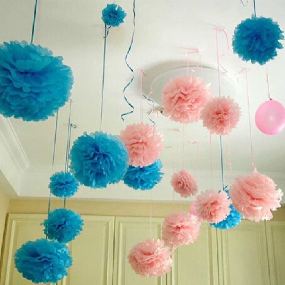 Hot 30cm Wedding Decorative Props Tissue Paper Pompoms Pom