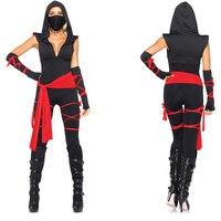 Classic Halloween Costumes Cosplay Costume Martial Arts Ninja Costumes For Women Black Masked Warriors Ninja Warrior