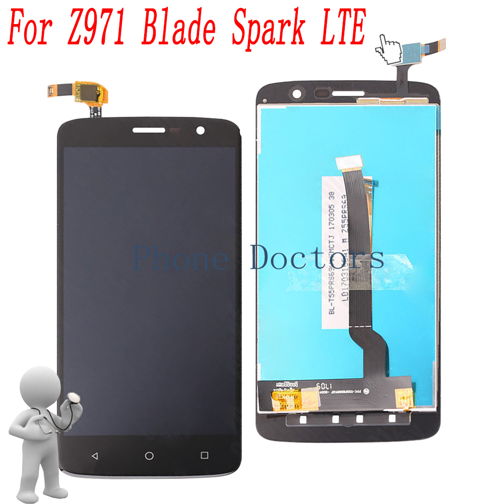 5.5 Full LCD DIsplay + Touch Screen Digitizer Assembly For ZTE Z971 Blade Spark LTE ; Black ; New ;100% Tested5.5 Full LCD DIsplay + Touch Screen Digitizer Assembly For ZTE Z971 Blade Spark LTE ; Black ; New ;100% Tested