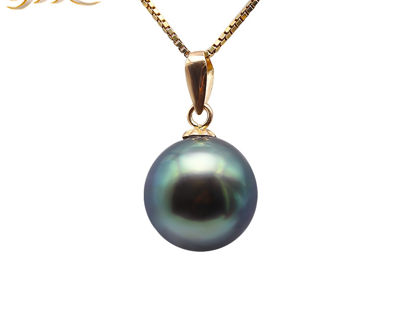 18 K Gold 10.0mm Peacock Green Tahitian Pendant Pearl South Sea Cultured Pendant 18 inches AAA Jewelry Gold 18k18 K Gold 10.0mm Peacock Green Tahitian Pendant Pearl South Sea Cultured Pendant 18 inches AAA Jewelry Gold 18k