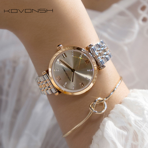Image 4 - KOVONSH Women Watch Watches Ladies Watch Womans Female Watch Stainless Steel Dress Wrist Watches Silver Gold Gift Dropshipping