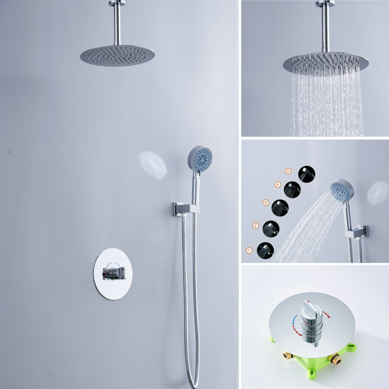 Livraison gratuite becola kit de robinet de douche dissimulé ensemble de douche mural système de douche de haute qualité B-F1008
