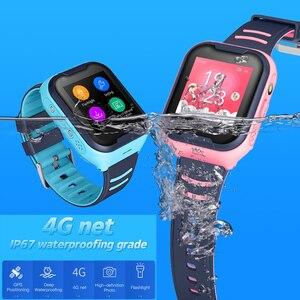 Image 5 - Crianças relógio inteligente crianças 4g wifi gps tracker criança relógio de telefone digital sos alarme relógio da câmera do telefone para crianças pk q90