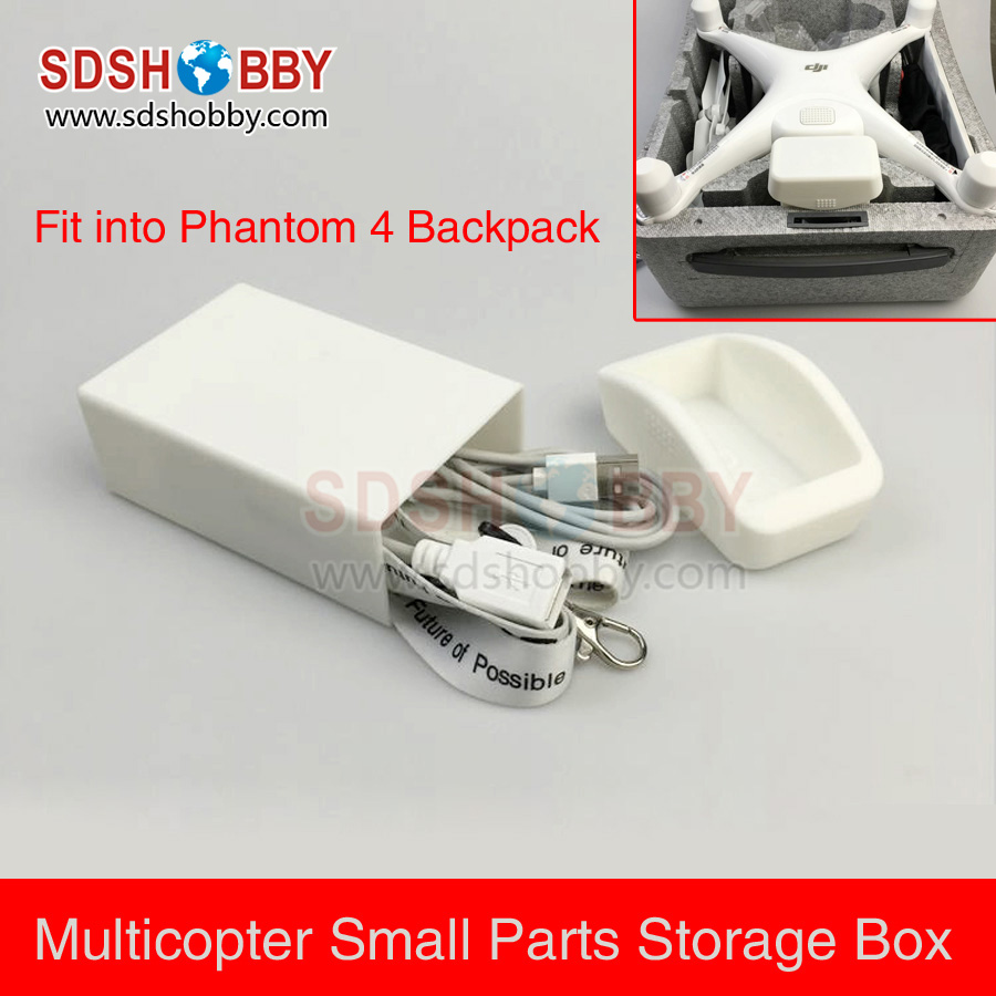 3D Printed Small Parts Accessories Storage Box Cable Carry Case for DJI Phantom 4 Multicopter