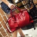 PU Leather Boston Women Handbag Fashion Luxury Shoulder Bag Solid Zipper Women Pillow Bag Ladies Bag Tote bolsos Free Shipping