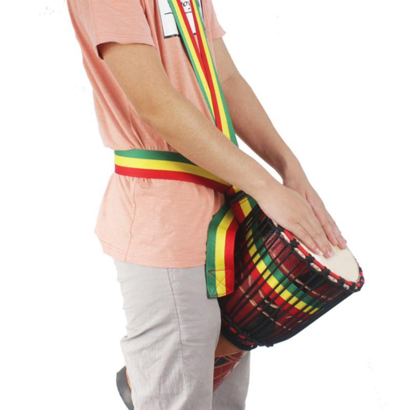 Drum Strap Belt Tambourine Djembe Cotton Rainbow W50mm L3200mm