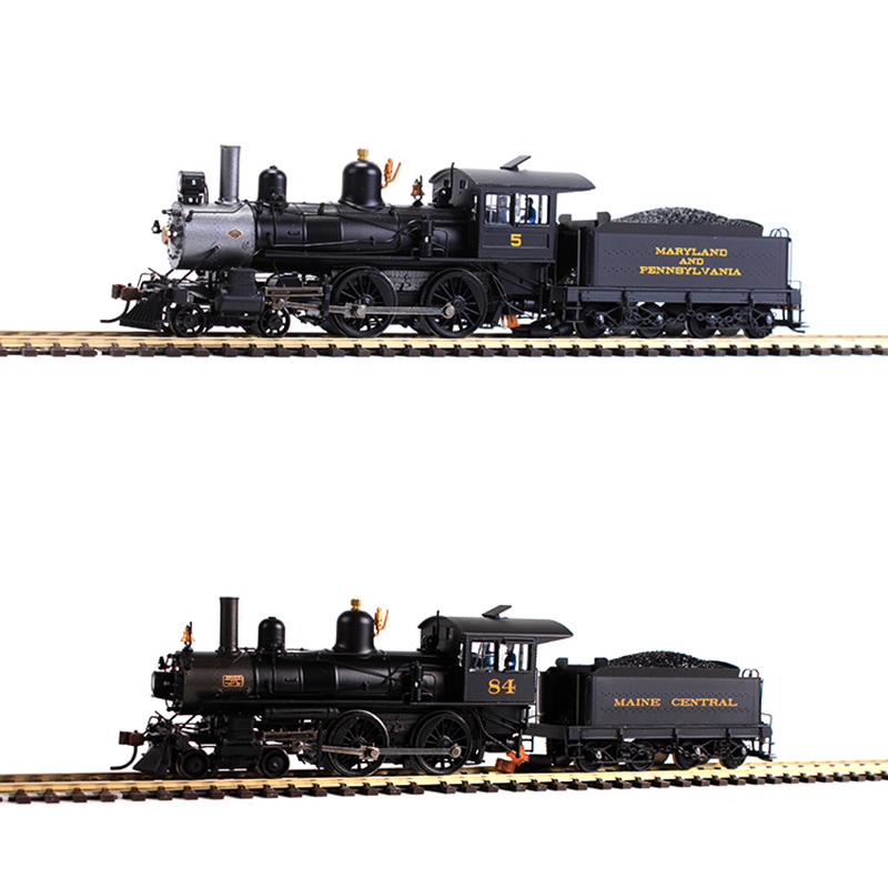 American belt Light electric Simulation digital modern American 4-4-0 steam locomotive train model