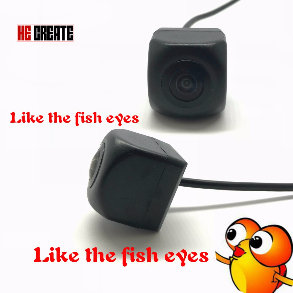 HE CREATE 170 Degree Fish Eyes Low-light Level Night Vision HD 1280*720P MCCD Car Rear View Camera Reversing Backup Camera