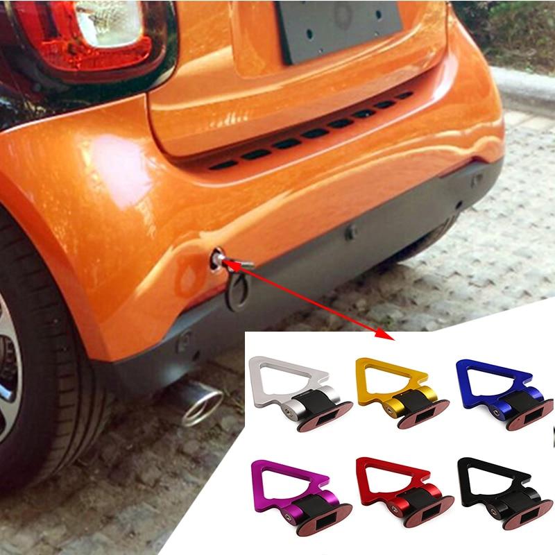 farbe: Rot Universal Car Styling Dekoration Anh/ängerhaken Aufkleber Auto Auto Hinten Vorne Anh/änger Simulation Racing Ring Fahrzeug Abschlepphaken