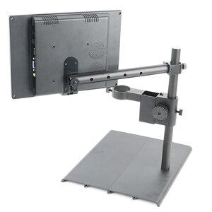 25 мм 33 мм алюминиевый сплав вешалка промышленный видео микроскоп камера подставка держатель для стерео микроскопа ЖК-монитор настольная по...