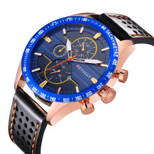 Top Brand Luxury Men Watch Casual Business Leather Quartz Waterproof Sports Watches Male Wrist Day Date Clock