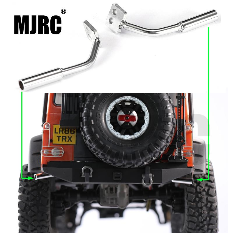 MJRC 1pair Metal Simulation Exhaust Pipe Gas Vent For Dj Traxxas Trx-4 Trx4 Defender Ford Bronco Rc Car Parts Exhaust Manifold