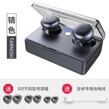 Profissional Toque Verdadeiro 3D Som Estéreo Bluetooth Fones de Ouvido Do Esporte de Água TWS com Carregador de Carregamento do Fone de ouvido Sem Fio Invisível