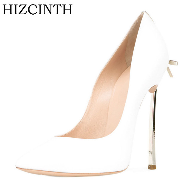 HIZCINTH New Brand Women Shoes 2018 Spring Bowknot High-heeled Women's shoes Custom Wedding Shoes  Sheepskin Pumps Ladies Shoe