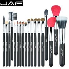 JAF 18 Pcs Make Up Brush Set Super Soft Natural Red Goat Hair and Pony Horse  Beauty Artist Makeup Brushes J1813AY-B