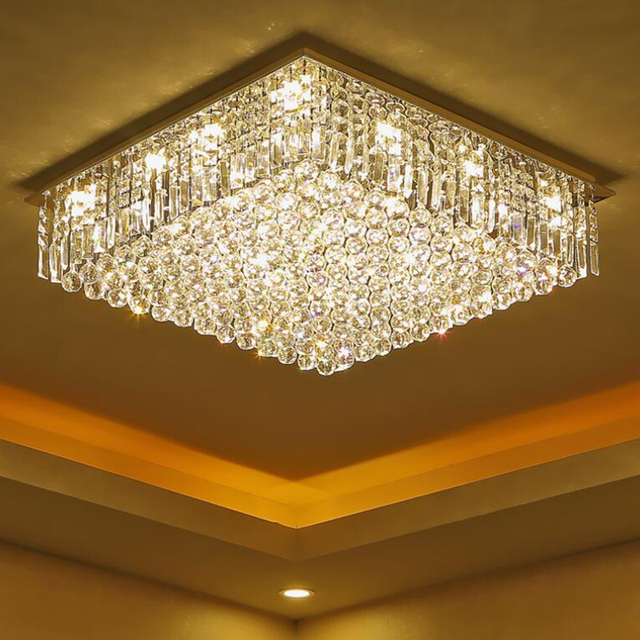 jmmxiuz New K9 Crystal Ceiling Lamp LED Lighting Lamps White-hot Room Restaurant Crystal Brilliants E14 LED.