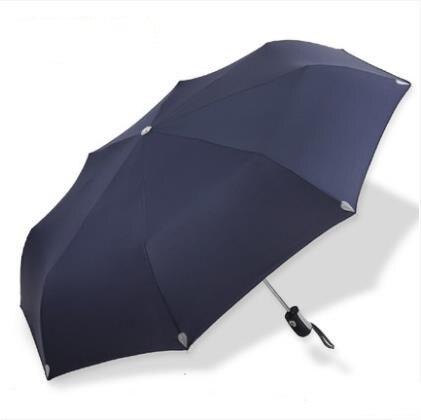 Большой зонт полуавтоматический водонепроницаемый Зонт raingear высокого качества - Цвет: BLUE