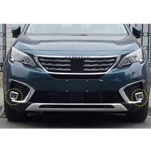 BBQ @ FUKA, accessoire d'extérieur pour phare antibrouillard, 2 pièces, pour Peugeot 2017, accessoire pour voiture 5008, ABS chromé, argent