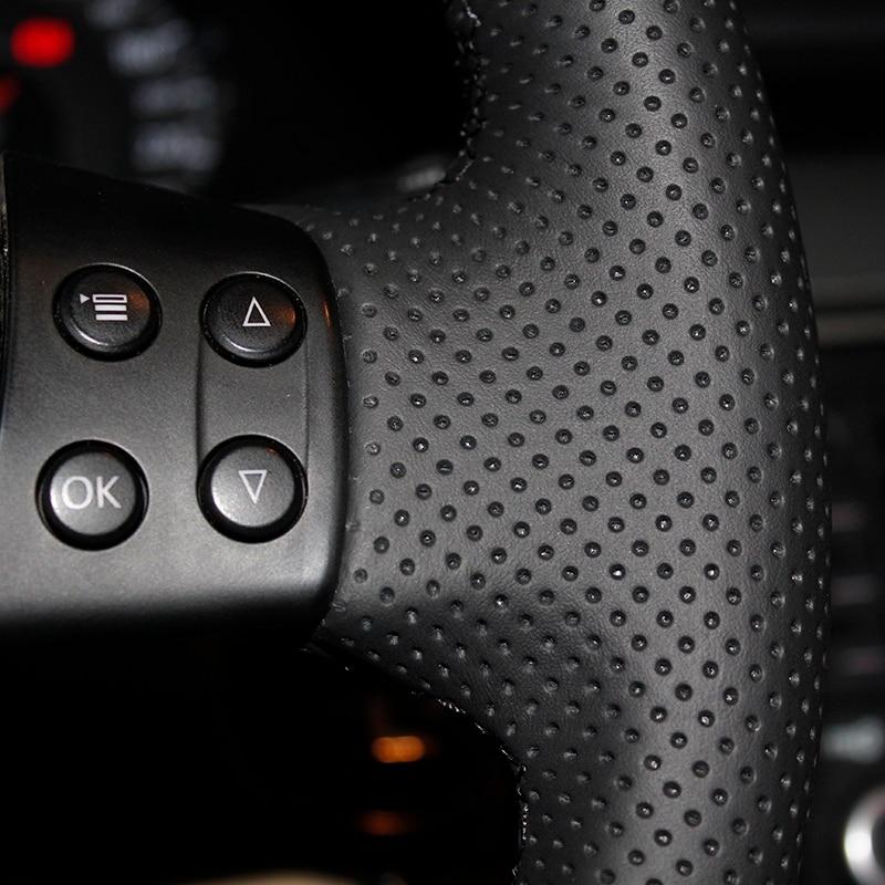 Must kunstnahast rooli kate Volkswagen Golf 5 Mk5 Sagitar Magotan VW - Auto salongi tarvikud - Foto 4