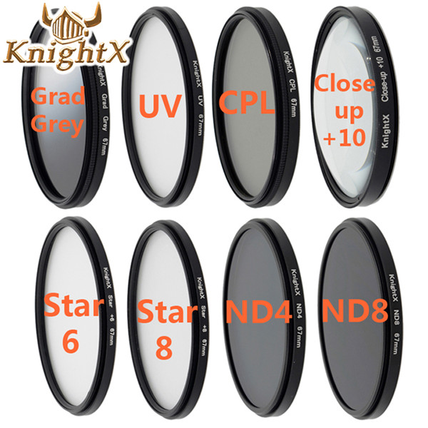 KnightX UV Star macro close up CPL Lens Kit dslr accessories for Nikon d3200 Sony Canon 650d 70d d7200 5d mark ii t3i Digital nikon d7200 kit черный