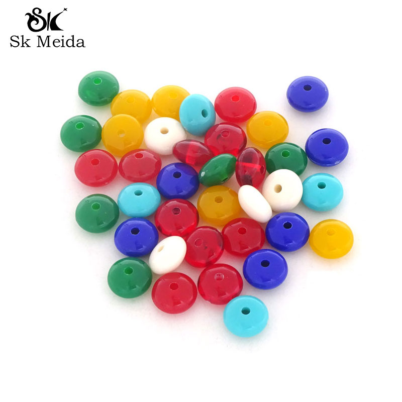 500pcs Mix Color Spacer Beads Acrylic Margele Distanziatori Componenti Per Gioielli Jewellery Making Materials Diy Craft AB-166