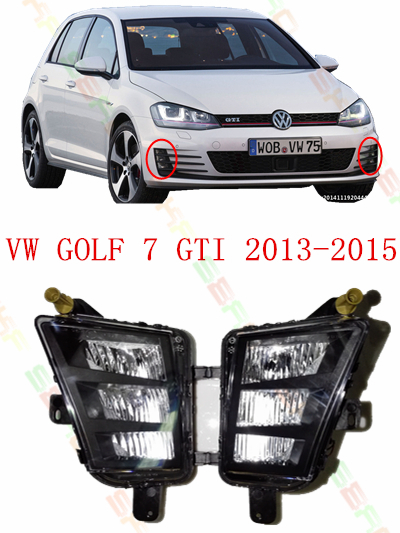 ФОТО For volkswagen vw golf 7 GTI  2013/14/15  led Car styling LED DRL Fog Lights Front bumper fog lamps  1 set