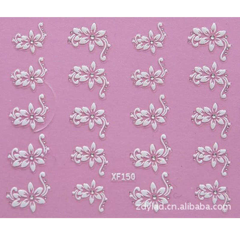 3D DIY flower design Water Transfer Nails Art Sticker decals lady women manicure tools Nail Wraps Decals wholesale