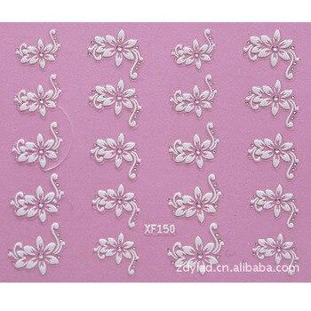 3d Diy Blume Design Wasser Transfer Nails Art Aufkleber Decals Dame Frauen Maniküre Werkzeuge Nail