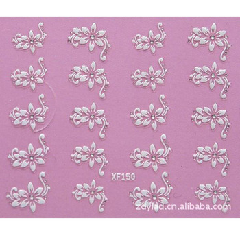 цена на 3D DIY flower design Water Transfer Nails Art Sticker decals lady women manicure tools Nail Wraps Decals wholesale