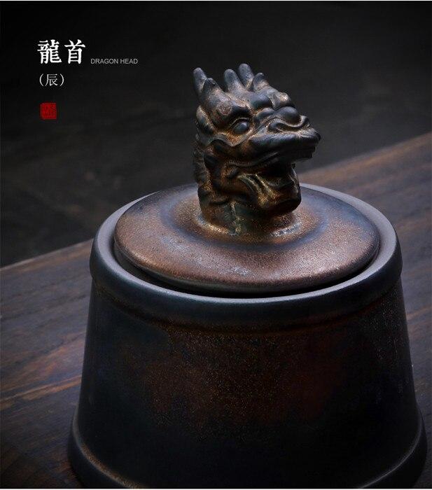Прах питомца кремации держатель урны собака в память о кошке шкатулка животное на память о похоронах Hond 500 г большой емкости свинья лошадь OXCaskets - Цвет: Dragon Head