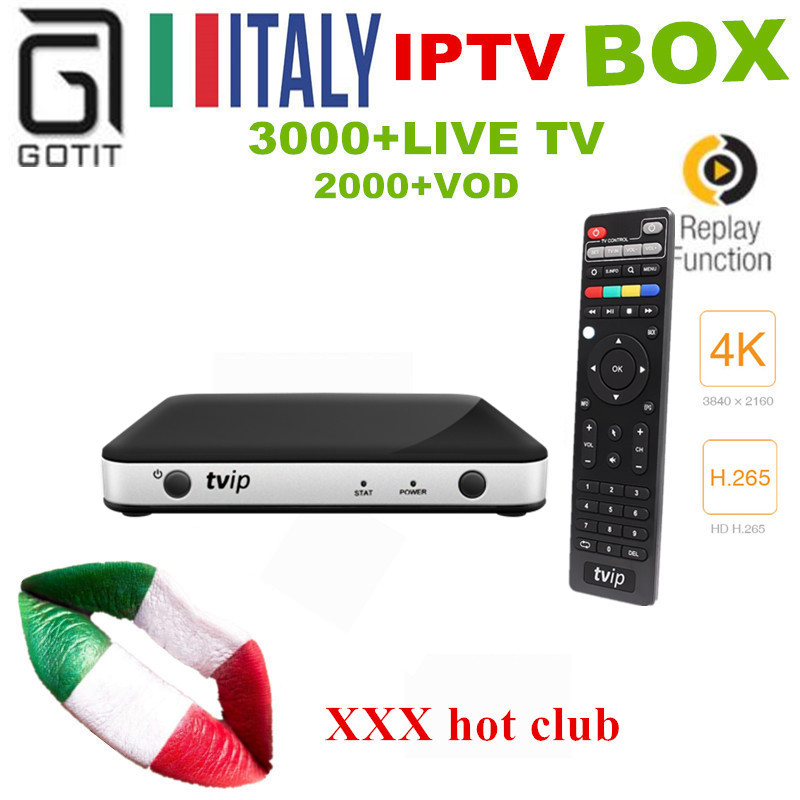 TVIP 605 Italy IPTV Adult IPTV Box Amlogic S805 Android/Linux Dual OS Smart TV Box Support H.265 UK Germany France Europe IPTV 5pcs android tv box tvip 410 412 box amlogic quad core 4gb android linux dual os smart tv box support h 265 airplay dlna 250 254