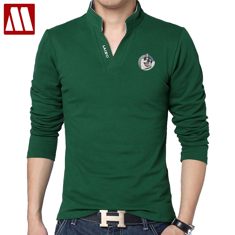 Plus Size Business Casual Printed Polo Shirts Man Casual Stand