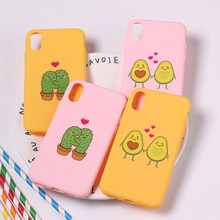 สำหรับ iPhone 11 Pro 6 6S 8 8Plus X 7 7Plus XS Max น่ารัก Avocado Lover Love heart Funny Tropical นุ่มซิลิโคน Candy Case Capa(China)