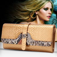 19x10CM Taobao Explosion Models In Europe And America Handbag Serpentine Leather Clutch Bags Wholesale A2507